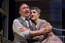 DEATH OF A SALESMAN   by Arthur Miller   design: Stephen Brimson Lewis   lighting: Tim Mitchell   director: Gregory Doran Antony Sher (Willy Loman), Harriet Walter (Linda Loman)Royal Shakespeare Compa...