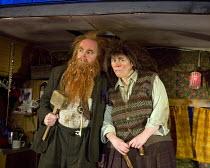 THE TWITS   by Roald Dahl   adapted by Enda Walsh   design: Chloe Lamford   lighting: Philip Gladwell   director: John Tiffany   Jason Watkins (Mr Twit), Monica Dolan (Mrs Twit) Jerwood Theatre Downst...