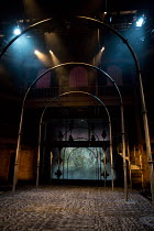 LOVE'S SACRIFICE   by John Ford   design: Anna Fleischle   lighting: Lee Curran   director: Matthew Dunster stage,set,empty,lights,velvet,floorRoyal Shakespeare Company (RSC) / Swan Theatre, Stratford...