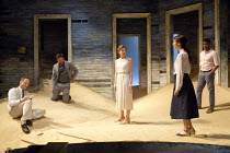 AH WILDERNESS!   by Eugene O'Neill   set design: Dickie Bird   costumes: Sussie Juhlin-Wallen   lighting: Charles Balfour   director: Natalie Abrahami l-r: David Annen (character unspecified), Dominic...