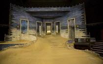 AH WILDERNESS!   by Eugene O'Neill   set design: Dickie Bird   costumes: Sussie Juhlin-Wallen   lighting: Charles Balfour   director: Natalie Abrahami stage,set,empty,sand,doors,wood,steps,pianoThe Yo...