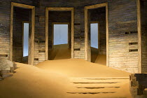 AH WILDERNESS!   by Eugene O'Neill   set design: Dickie Bird   costumes: Sussie Juhlin-Wallen   lighting: Charles Balfour   director: Natalie Abrahami stage,set,detail,sand,doors,wood,stepsThe Young V...