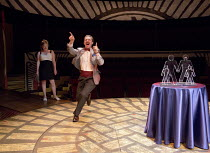 MATCHBOX THEATRE   by Michael Frayn   design: Polly Sullivan   lighting: David Howe   director: Hamish McColl 'Themselves': Tim DownieHampstead Theatre (HT), London NW3   04/05/2015          Donald Co...