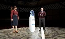 MATCHBOX THEATRE   by Michael Frayn   design: Polly Sullivan   lighting: David Howe   director: Hamish McColl 'Precisely So': Nina Wadia, Mark HadfieldHampstead Theatre (HT), London NW3   04/05/2015...