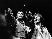 CHILDE BYRON   by Romulus Linney   design: Carl Toms   lighting: John B. Read   director: Frank Dunlop   l-r: David Essex (Lord Byron), Simon Gipps-Kent (Boy) The Young Vic (YV), London SE1   06/19...
