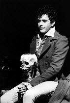 CHILDE BYRON   by Romulus Linney   design: Carl Toms   lighting: John B. Read   director: Frank Dunlop   David Essex (Lord Byron)  The Young Vic (YV), London SE1   06/1981                        D...