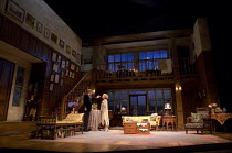 HAY FEVER   by Noel Coward   design: Peter McKintosh   lighting: Paul Pyant   director: Lindsay Posner stage,set,full,period,interior,stairs,gallery,landing,pictures,paintings,furniture   with Simon S...