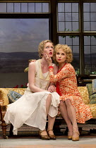 HAY FEVER   by Noel Coward   design: Peter McKintosh   lighting: Paul Pyant   director: Lindsay Posner l-r: Alice Orr-Ewing (Sorel Bliss), Felicity Kendal (Judith Bliss)a Theatre Royal Bath production...