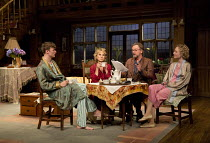 HAY FEVER   by Noel Coward   design: Peter McKintosh   lighting: Paul Pyant   director: Lindsay Posner l-r: Edward Franklin (Simon Bliss), Felicity Kendal (Judith Bliss), Simon Shepherd (David Bliss),...