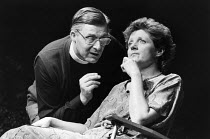 WOMAN IN MIND   written & directed by Alan Ayckbourn   design: Roger Glossop   lighting: David Hersey Martin Jarvis (Gerald), Julia McKenzie (Susan)   Vaudeville Theatre, London WC2   03/09/1986...