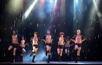 BEYOND BOLLYWOOD   written, choreographed & directed by Rajeev Goswami   original score: Salim-Sulaiman   lyrics: Irfan Siddiqui   'It's Raining Men' - company London Palladium, London W1   11/05/20...