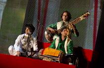 BEYOND BOLLYWOOD   written, choreographed & directed by Rajeev Goswami   original score: Salim-Sulaiman   lyrics: Irfan Siddiqui   left, in white: Kumar Sharma   front: Ganesh Sawant (pakhawaj)   rear...