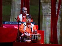 BEYOND BOLLYWOOD   written, choreographed & directed by Rajeev Goswami   original score: Salim-Sulaiman   lyrics: Irfan Siddiqui   (front) Vivek Mishra (tabla), (rear) Tejas Damania (keyboard) London...