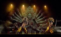 BEYOND BOLLYWOOD   written, choreographed & directed by Rajeev Goswami   original score: Salim-Sulaiman   lyrics: Irfan Siddiqui   Hindu goddess with warrior dancers in masks London Palladium, London...