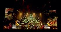 BEYOND BOLLYWOOD   written, choreographed & directed by Rajeev Goswami   original score: Salim-Sulaiman   lyrics: Irfan Siddiqui   Hindu goddess with warrior dancers in masks London Palladium, Londo...