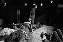 HAMLET   by Shakespeare   design: John Napier & Jeffrey Torrens   adapted & directed by Charles Marowitz   Nikolas Simmonds (Hamlet)  Open Space Theatre, London NW1   07/07/1969...