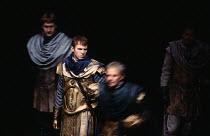 ANTONY AND CLEOPATRA   by Shakespeare   set design: Alison Chitty   lighting: Stephen Wentworth   director: Peter Hall ~~Tim Pigott-Smith (Octavius Caesar)~Olivier Theatre / National Theatre (NT), Lon...