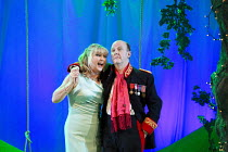 COSI FAN TUTTE   by Mozart   conductor: Douglas Boyd   design: Dick Bird   lighting: Bruno Poet   director: John Fulljames Lesley Garrett (Despina), Neal Davies (Don Alfonso)Garsington Opera at Wormsl...