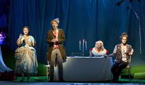COSI FAN TUTTE   by Mozart   conductor: Douglas Boyd   design: Dick Bird   lighting: Bruno Poet   director: John Fulljames l-r: Andreea Soar (Fiordiligi), Robin Tritschler (Ferrando), Kathryn Rudge (D...