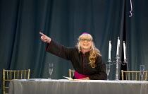 COSI FAN TUTTE   by Mozart   conductor: Douglas Boyd   design: Dick Bird   lighting: Bruno Poet   director: John Fulljames ~Lesley Garrett (Despina - disguised as a notary)~Garsington Opera at Wormsle...