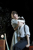 THE SEAGULL   by Chekhov   design: Jon Bausor   lighting: Philip Gladwell   director: Matthew Dunster Janie Dee (Irina Arkadina), Matthew Tennyson (Konstantin)Open Air Theatre (OAT) / Regent's Park, L...