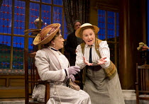 THE IMPORTANCE OF BEING EARNEST   by Oscar Wilde   design: Peter McKintosh   lighting: Howard Harrison   director: Adrian Noble   l-r: David Suchet (Lady Bracknell), Michele Dotrice (Miss Prism) with...