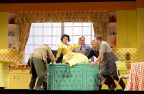 FALSTAFF   music by Verdi   libretto by Boito   after Shakespeare   conductor: Michael Schonwandt   set design: Paul Steinberg   costumes: Brigitte Reiffenstuel   lighting: Robert Carsen & Peter van P...
