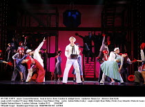 ON THE TOWN   music: Leonard Bernstein   book & lyrics: Betty Comden & Adolph Green   conductor: Simon Lee   director: Jude Kelly   couple at left: Caroline O'Connor (Hildy Esterhazy), Sean Palmer (C...