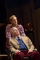 DEAR LUPIN   by Roger Mortimer & Charlie Mortimer   adapted for the stage by Michael Simkins   design: Adrian Linford   lighting: Johanna Town   director: Philip Franks   (front) James Fox, (rear) Jac...