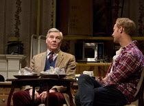 DEAR LUPIN   by Roger Mortimer & Charlie Mortimer   adapted for the stage by Michael Simkins   design: Adrian Linford   lighting: Johanna Town   director: Philip Franks   l-r: James Fox, Jack Fox  Apo...