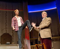 DEAR LUPIN   by Roger Mortimer & Charlie Mortimer   adapted for the stage by Michael Simkins   design: Adrian Linford   lighting: Johanna Town   director: Philip Franks   l-r: Jack Fox, James Fox  Apo...