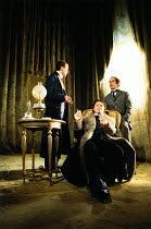 THE JUDAS KISS   by David Hare   design: Bob Crowley   lighting: Mark Henderson   director: Richard Eyre l-r: Peter Capaldi (Robert Ross), Liam Neeson (Oscar Wilde), Tom Hollander (Lord Alfred Douglas...