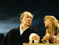 SKYLIGHT   by David Hare   design: John Gunter   lighting: Mark Jonathan   director: Richard Eyre Michael Gambon (Tom Sergeant), Lia Williams (Kyra Hollis) Cottesloe Theatre / National Theatre (NT), L...