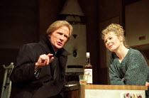SKYLIGHT   by David Hare   design: John Gunter   lighting: Mark Jonathan   director: Richard Eyre ~~Bill Nighy (Tom Sergeant), Stella Gonet (Kyra Hollis) ~National Theatre 1995 production / Vaudeville...
