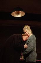 SKYLIGHT   by David Hare   design: John Gunter   lighting: Mark Jonathan   director: Richard Eyre ~~Bill Nighy (Tom Sergeant), Stella Gonet (Kyra Hollis)~National Theatre 1995 production / Vaudeville...