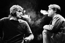 KNUCKLE   by David Hare   design: John Napier   lighting: Robert Bryan   director: Michael Blakemore l-r: Malcolm Storry (Max Dupree), Edward Fox (Curly)Comedy Theatre / London SW1   04/03/1974...
