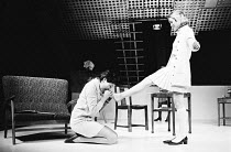 SLAG   by David Hare   design: John Halle   director: Roger Hendricks-Simon l-r: Diane Fletcher (Ann), Marty Cruickshank (Elise)Hampstead Theatre Club, London NW3   06/04/1970  Donald Cooper/Photostag...