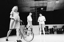 SLAG   by David Hare   design: John Halle   director: Roger Hendricks-Simon l-r: Marty Cruickshank (Elise), Rosemary McHale (Joanne), Diane Fletcher (Ann) Hampstead Theatre Club, London NW3   06/04/19...