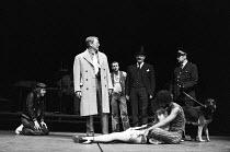 TEETH 'N' SMILES   written & directed by David Hare   music & lyrics: Nick Bicat   design: Jocelyn Herbert   lighting: Jack Raby ~~centre, standing: Dave King (Saraffian / Manager)   slumped on stage:...