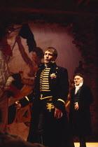 CORIOLANUS   by Shakespeare   design: Fran Thompson   lighting: Alan Burrett   director: David Thacker l-r: Toby Stephens (Caius Martius Coriolanus), Philip Voss (Menenius Agrippa)Royal Shakespeare Co...