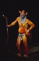 THE TRACKERS OF OXYRHYNCHUS   written & directed by Tony Harrison   design: Jocelyn Herbert   laktismography: Lawrence Evans   lighting: Paul McLeish   Barrie Rutter (Silenus) Olivier Theatre / Nation...