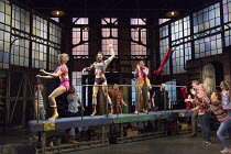 KINKY BOOTS   music & lyrics: Cyndi Lauper   book: Harvey Fierstein   set design: David Rockwell   costumes: Gregg Barnes   lighting: Kenneth Posner   choreographed & directed by Jerry Mitchell   on c...