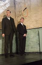 HANGMEN   by Martin McDonagh   design: Anna Fleischle   lighting: Joshua Carr   director: Matthew Dunster l-r: David Morrissey (Harry), Reece Shearsmith (Syd) Jerwood Theatre Downstairs / Royal Court...