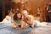 ANTONY AND CLEOPATRA  by Shakespeare  set design: Stephen Brimson Lewis  costumes: Kandis Cook  lighting: Tim Mitchell  fights: Terry King  director: Gregory Doran ~Harriet Walter (Cleopatra, Queen of...