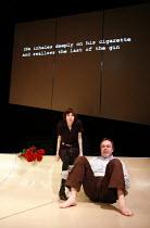 BLASTED   by Sarah Kane   director: Jenny Sealey   Jennifer-Jay Ellison (Cate), Gerard McDermott (Ian) Graeae Theatre Company / Soho Theatre, London W1   18/01/2007  Donald Cooper/photostage.co.uk   d...