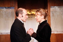 GHOSTS   by Henrik Ibsen   director: Anna Mackmin   Finbar Lynch (Pastor Manders), Niamh Cusack (Mrs Alving) Gate Theatre, London W11   11/01/2007 � Donald Cooper/photostage.co.uk   ref/0756