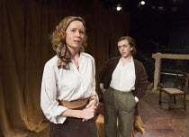 THE FIRST MAN   by Eugene O'Neill   set design: Tim Dann   costumes: Gregor Donnelly   lighting: Charlie Lucas   director: Anthony Biggs l-r: Charlotte Asprey (Martha), Rebecca Lee (Lily)Jermyn Street...
