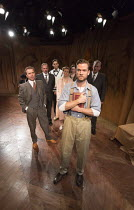 THE FIRST MAN   by Eugene O'Neill   set design: Tim Dann   costumes: Gregor Donnelly   lighting: Charlie Lucas   director: Anthony Biggs front left: Richard Emerson (Mark Sheffield)   centre: Adam Jac...