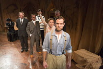 THE FIRST MAN   by Eugene O'Neill   set design: Tim Dann   costumes: Gregor Donnelly   lighting: Charlie Lucas   director: Anthony Biggs front centre: Adam Jackson-Smith (Curtis)   behind: Kate Copela...