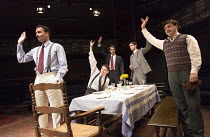 FRENCH WITHOUT TEARS   by Terence Rattigan   design: Simon Daw   lighting: Mark Doubleday   director: Paul Miller l-r: William Belchambers (Commander Bill Rogers), Patrick McNamee (Kenneth Lake), Joe...
